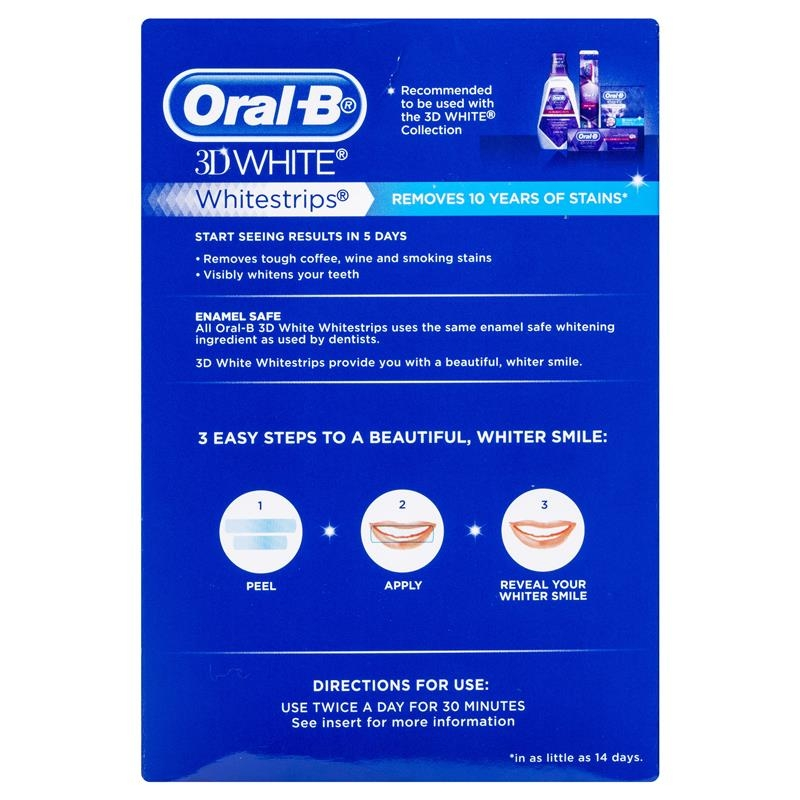Oral B 3D White Strips 28 Teeth Whitening Treatments