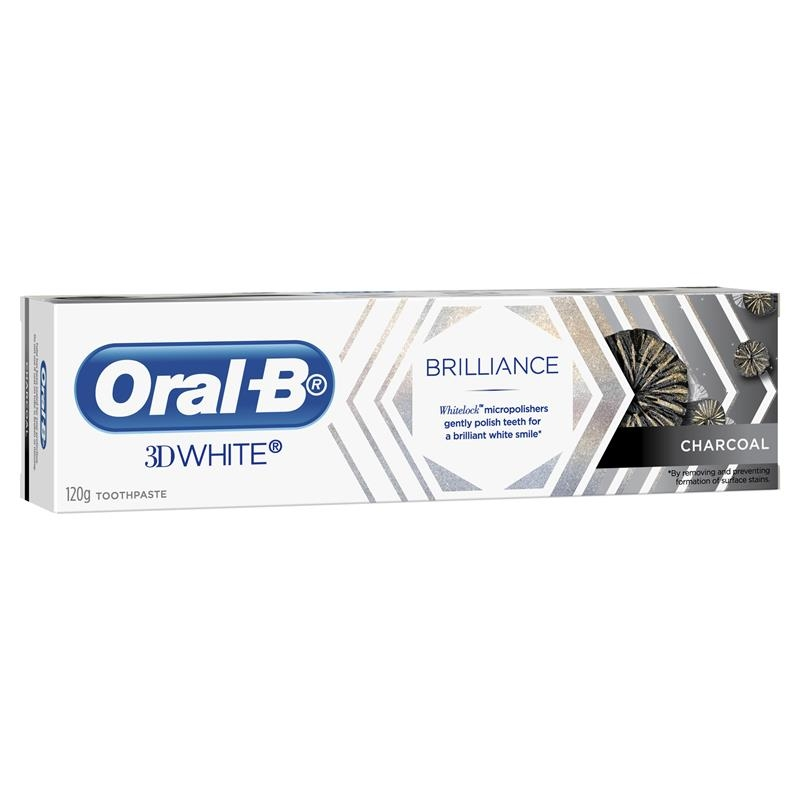 Oral B Teeth Whitening Toothpaste 3D White Brilliance Charcoal 120g