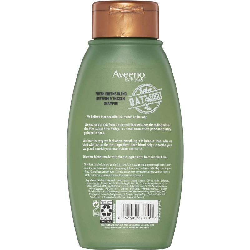 Dầu xả Aveeno Fresh Greens Blend Conditioner 354ml