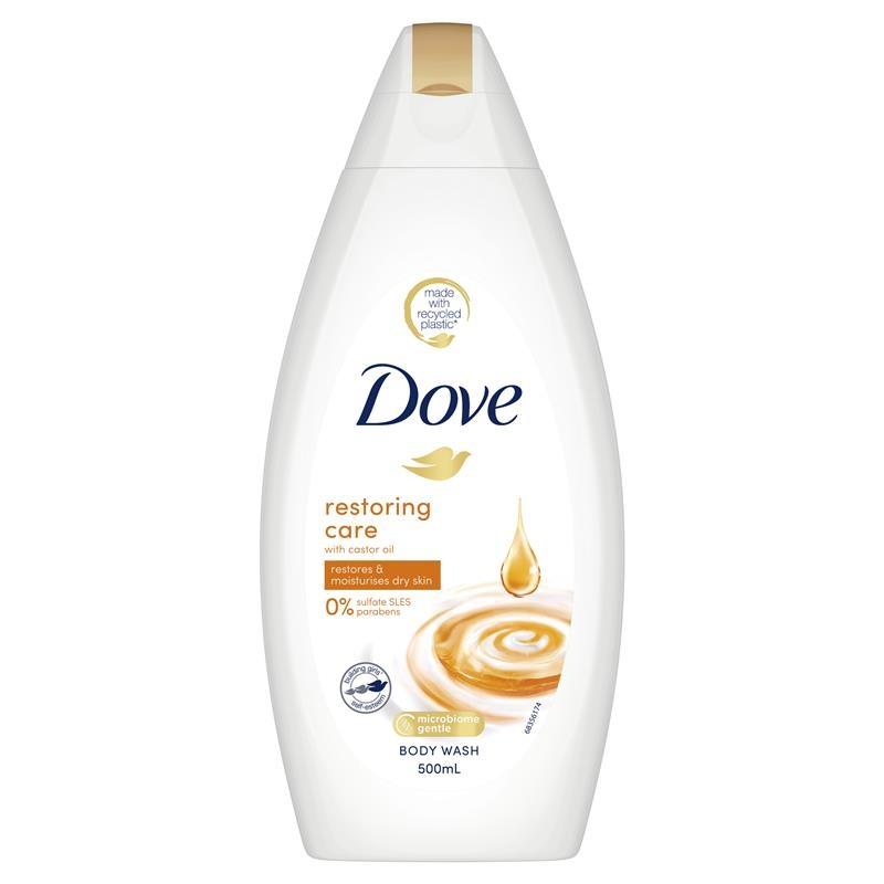 Dove Body Wash Restoring Care Castor Oil 500ml