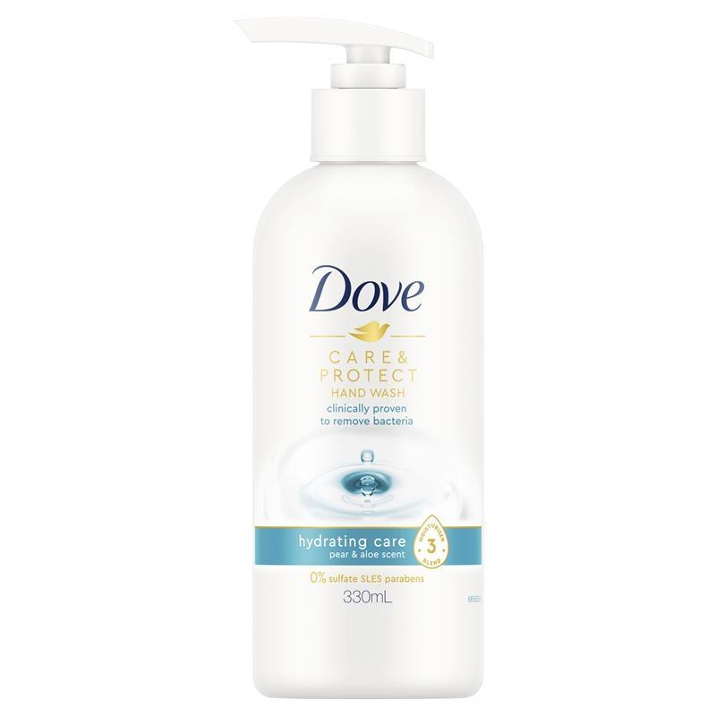 Dove Hand Wash Care & Protect Hydrating Care Pear & Aloe 330ml