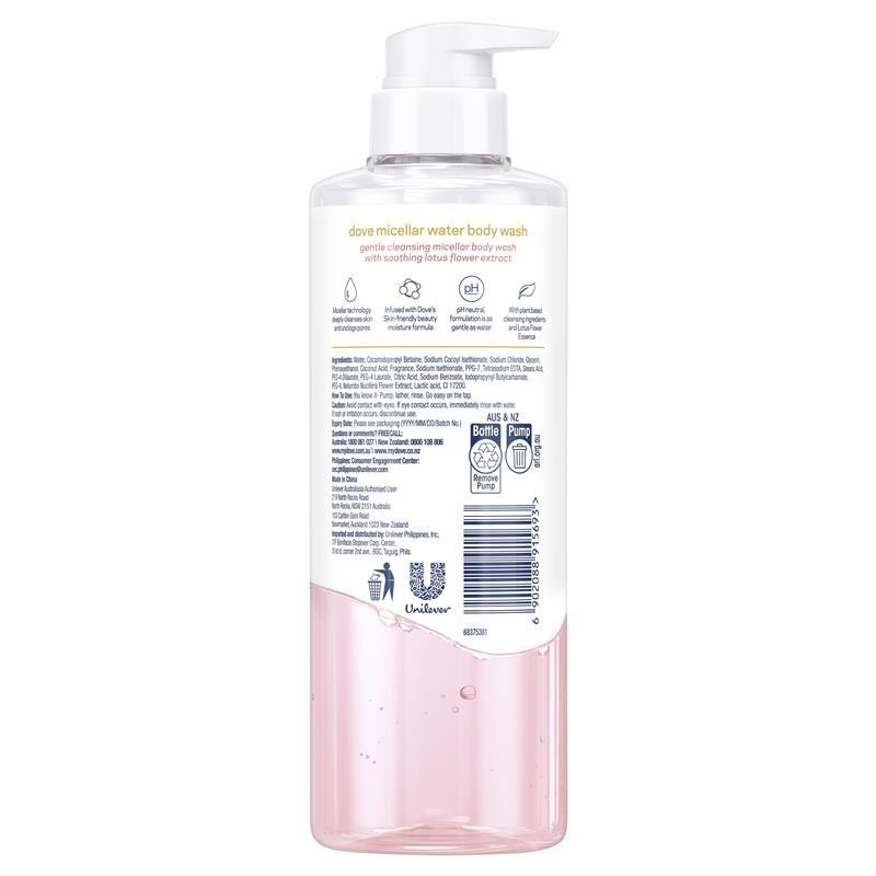 Dove Body Wash Anti Stress Micellar Water 500ml