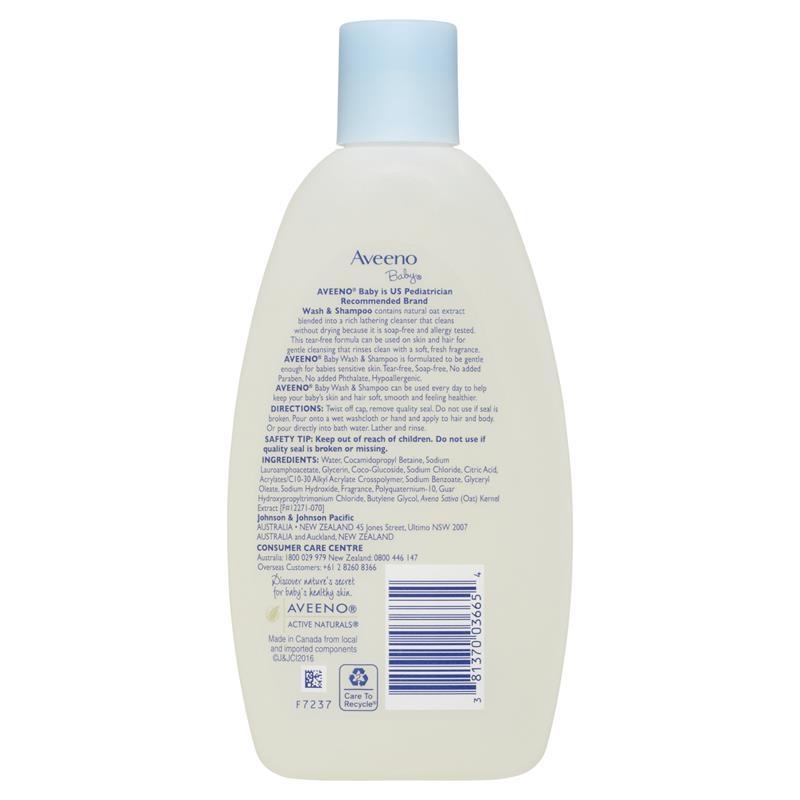 Aveeno Baby Daily Moisture Lightly Scented Wash & Shampoo 236mL