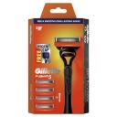 Gillette Proglide Manual Razor + 4 Blade Refills Starter Kit