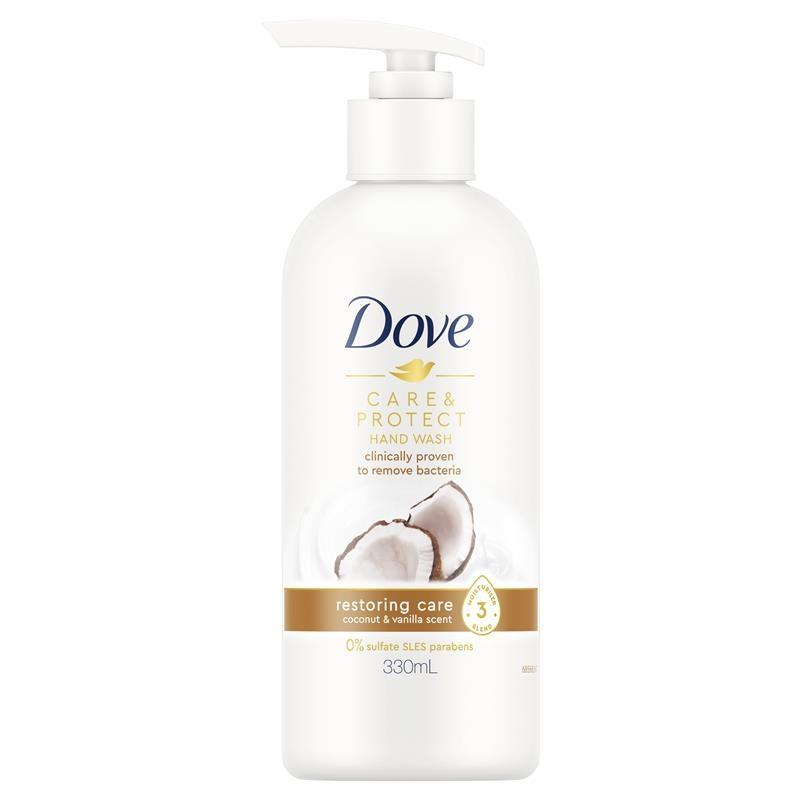 Dove Hand Wash Care & Protect Restoring Care Coconut & Vanilla 330ml
