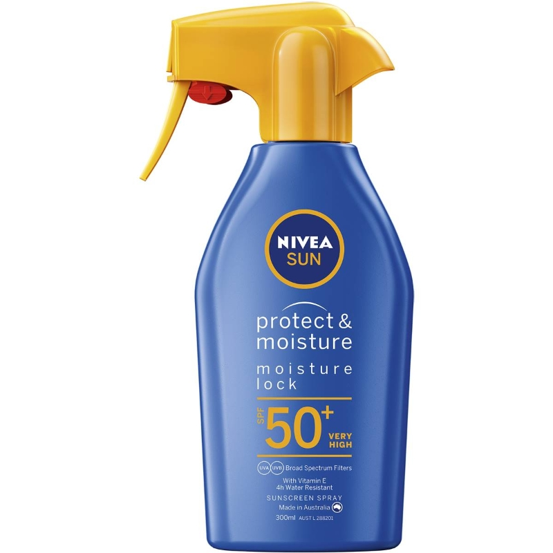 Nivea Moisturiser Sunscreen Spray Lotion Spf50+ & Vitamin E 300ml