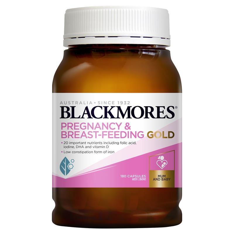 Viên uống tổng hợp cho bà bầu - Blackmores Pregnancy and Breastfeeding Gold 180 Capsules