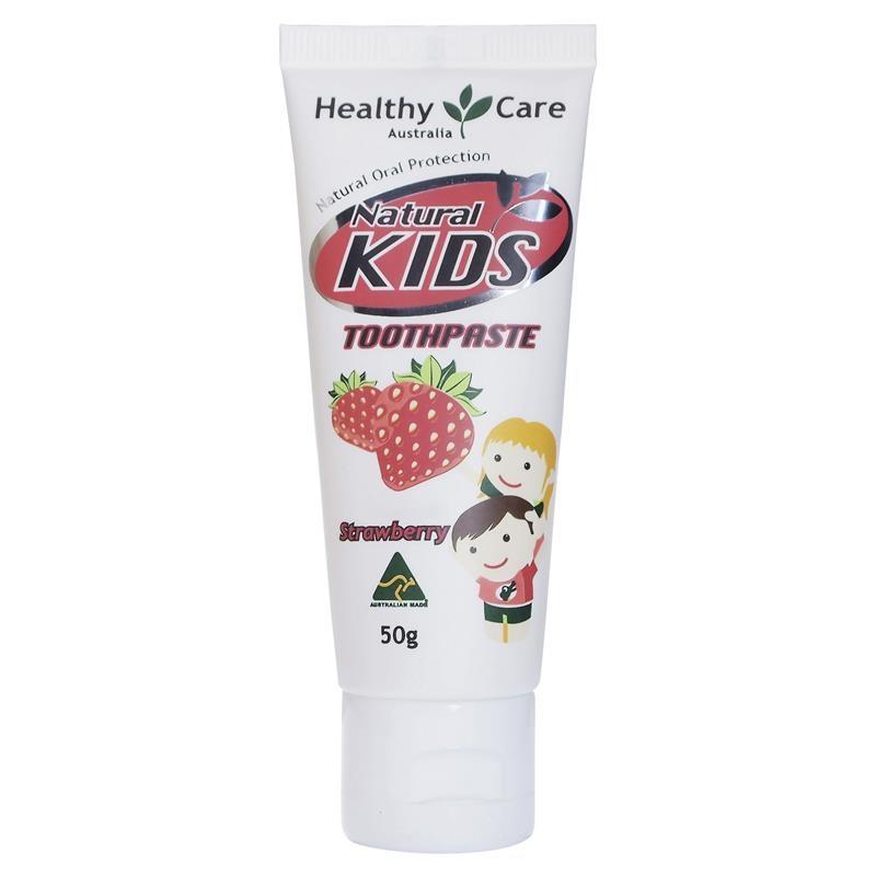 Kem đánh răng Healthy Care Natural Kids Toothpaste Strawberry Flavour 50g