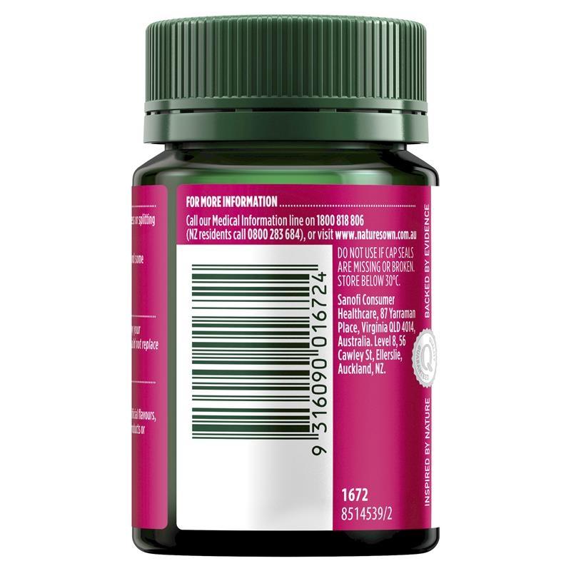 Viên uống hỗ trợ cho móng - Nature's Own Biotin 300mcg 100 Tablets