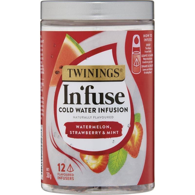 Twinings Infuse Dưa hấu Dâu tây & Bạc hà 12 gói