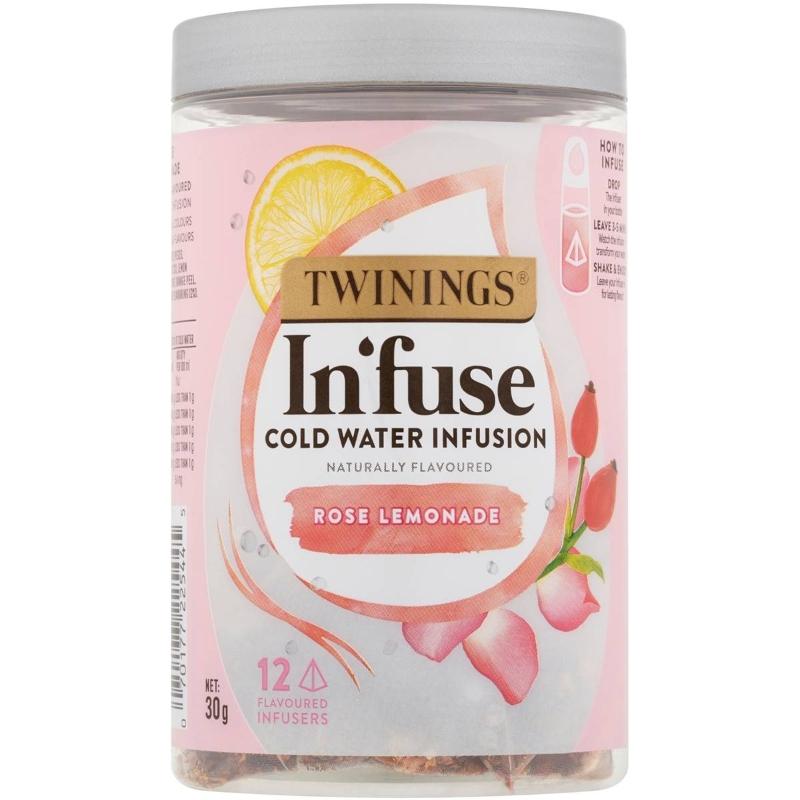 Trà nước chanh hoa hồng - Twinings Infuse Rose Lemonade 12 pack