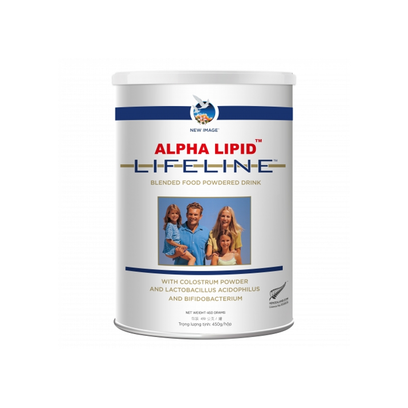 New Image Alpha Lipid Lifeline with Colostrum 450g (Việt Nam - mua 12 lon tặng ngay voucher OZAN $20)