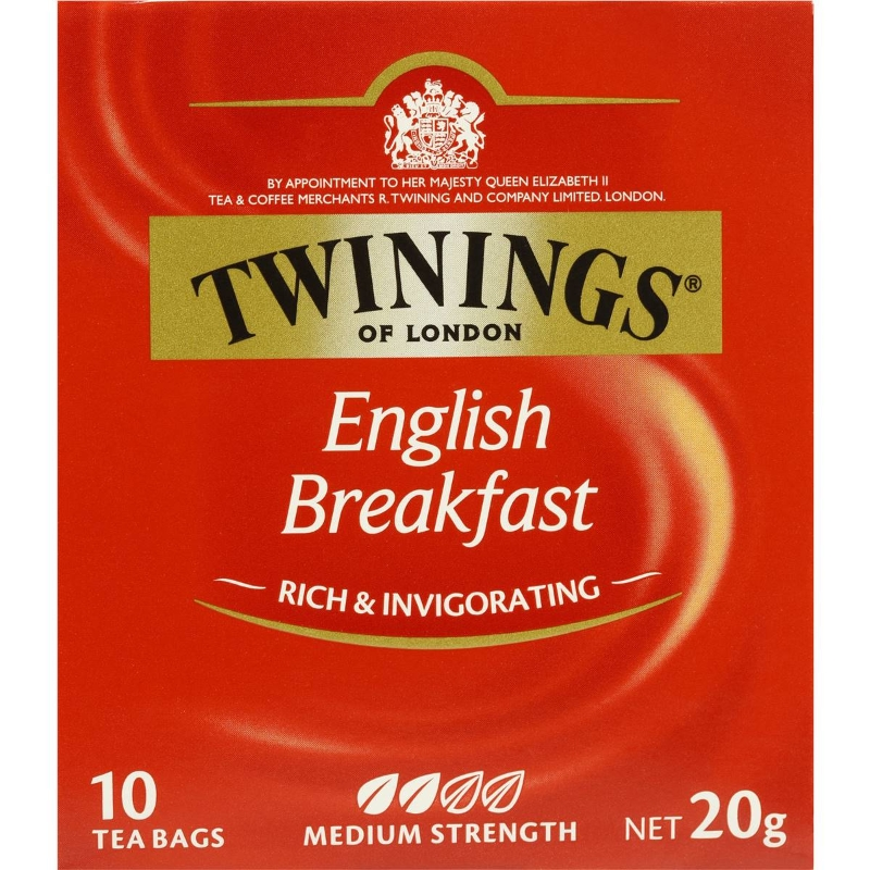 Trà Bữa sáng kiểu Anh Twinings Túi 10 gói