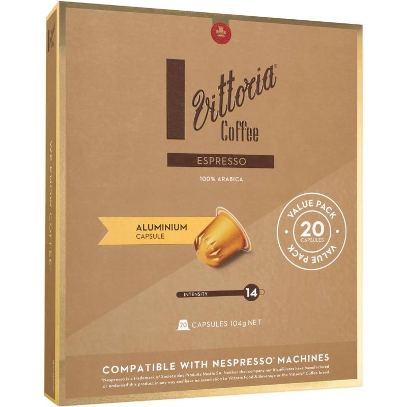 Viên nang cà phê tương thích với máy Vittoria Espresso Nespresso gói 20