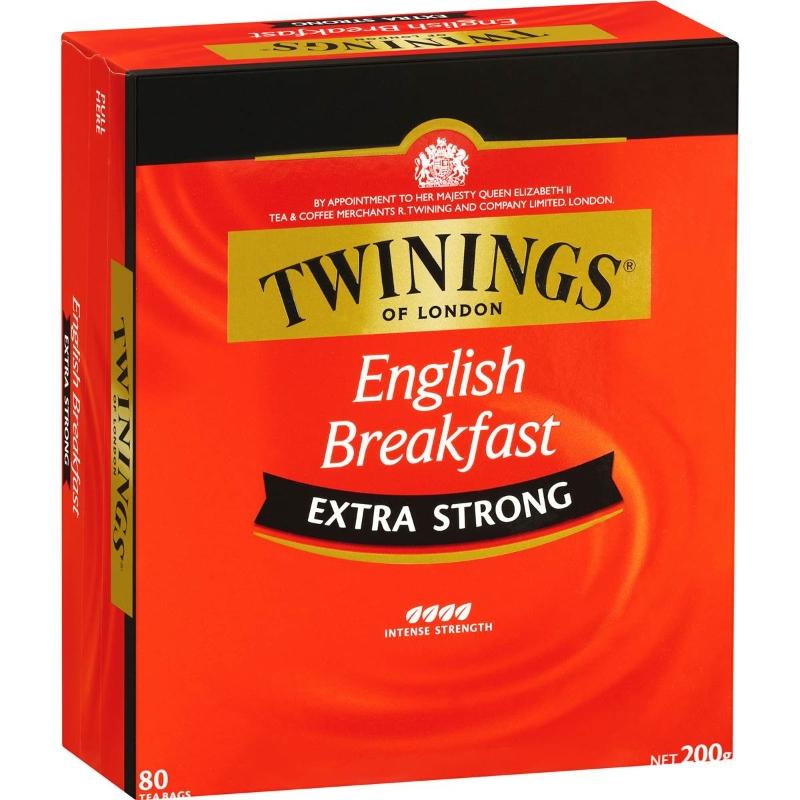 Trà sáng túi 80 gói - Twinings Extra Strong English Breakfast Tea