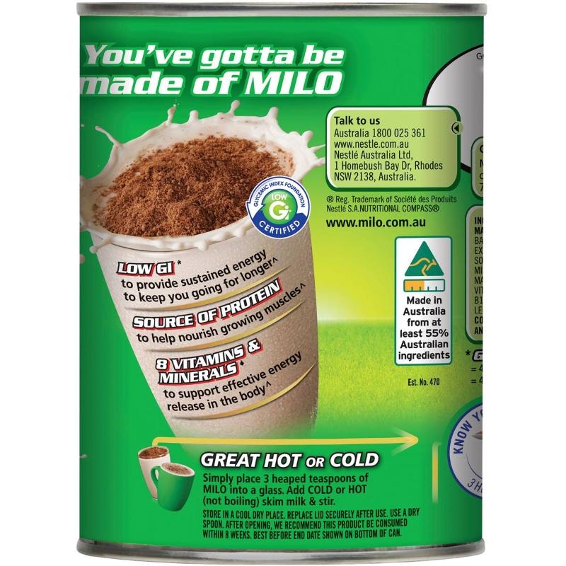 Sô cô la uống Nestle Milo mạch nha 460g