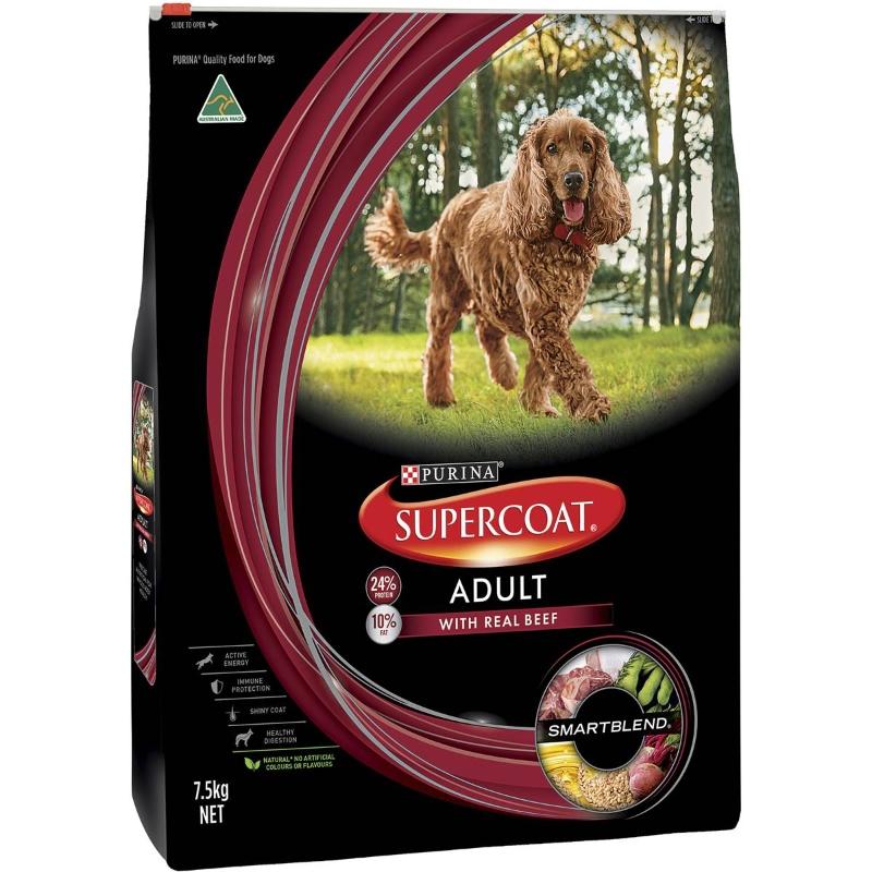 Thức ăn cho chó trưởng thành Supercoat Thịt bò 7,5kg
