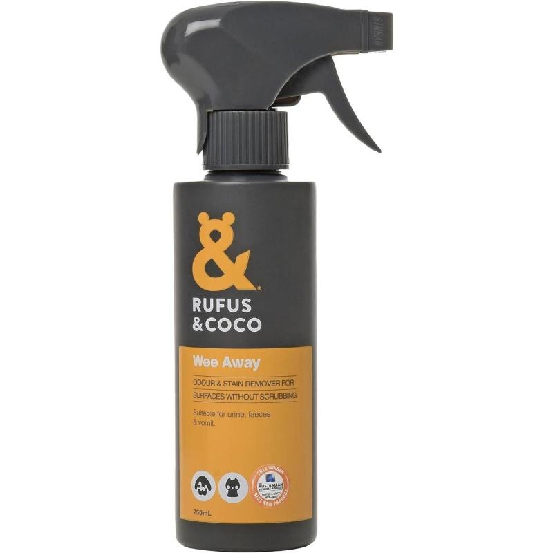 Huấn luyện thú cưng Kiểm soát mùi 250ml - Rufus & Coco Wee Away Pet Training Odour Control 250ml