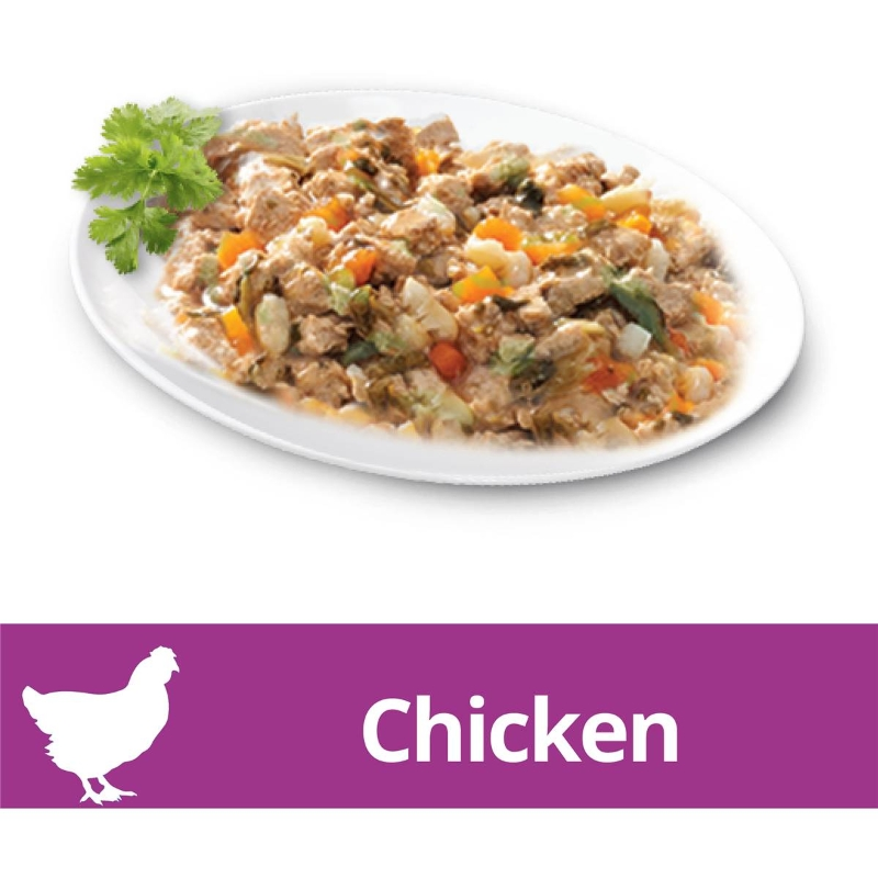 Khay thức ăn cho chó - My Dog Puppy Chicken Mince With Rice Carrot & Spinach Dog Food Tray 100g