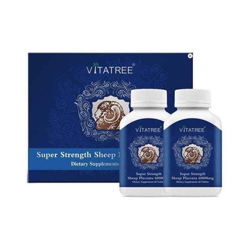 Viên uống hõ trợ hệ thống miễn dịch - Vitatree Sheep Placenta 60000mg 2 x 60 tablets (TL-11.2021)