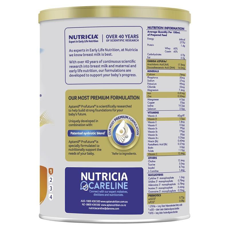 Sữa bột dành cho trẻ từ 0 - 6 tháng - Aptamil Profutura Infant Formula 900g New