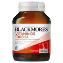 Viên uống bổ sung Vitamin D- Blackmores Vitamin D3 1000IU 200 Capsules