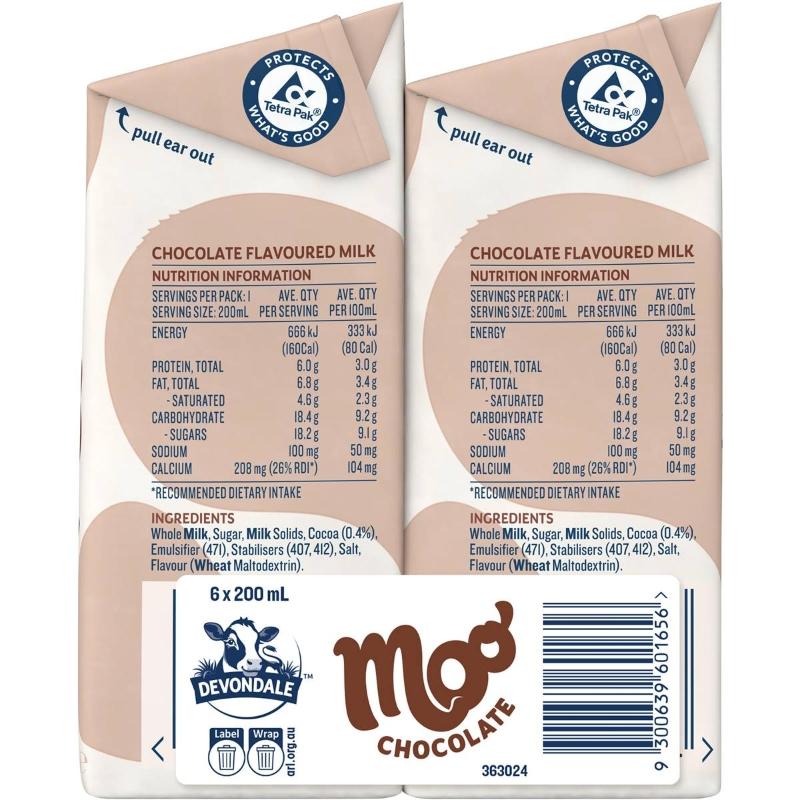 Sữa Devondale Moo Sô cô la 6x200ml