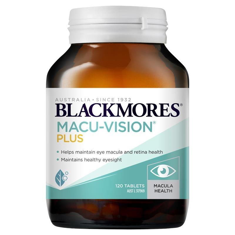 Viên uống hỗ trợ mắt 120v- Blackmores Macu Vision Plus 120 Tablets