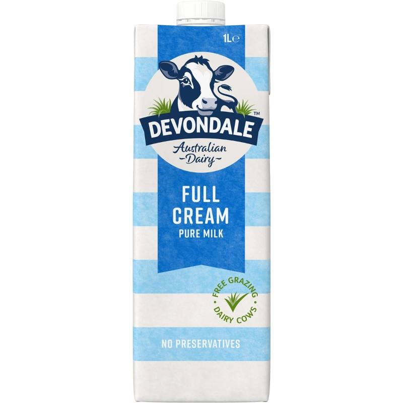 Sữa Devondale 100% nguyên chất nguyên kem Long Life 1l