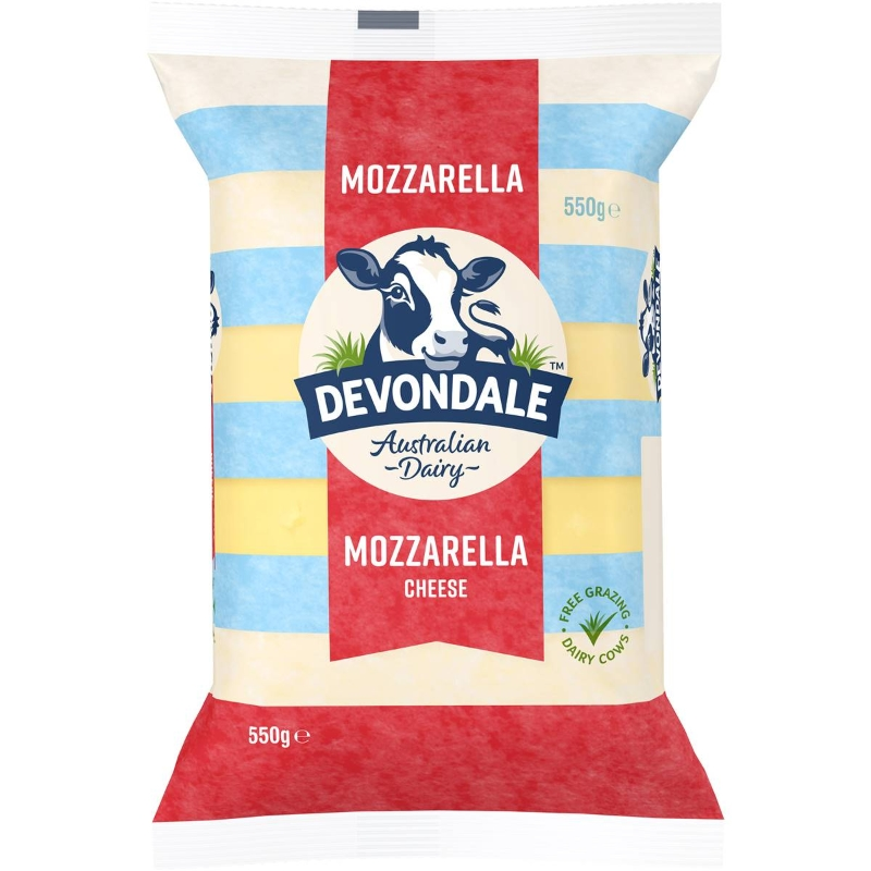 Khối Phô Mai Devondale Mozzarella 550g