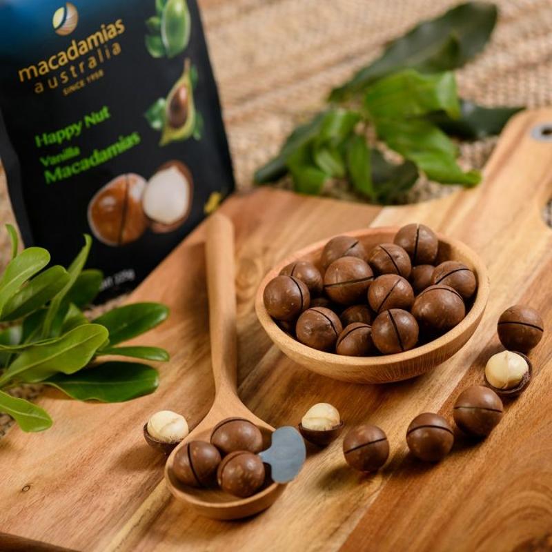 Hạt mac ca - Macadamias Australia Vanilla Happy Nut 225g
