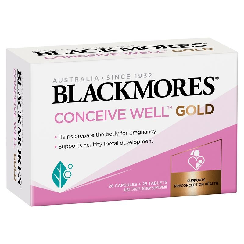 Bổ trứng - Blackmores Conceive Well Gold 28 Tablets + 28 Capsules