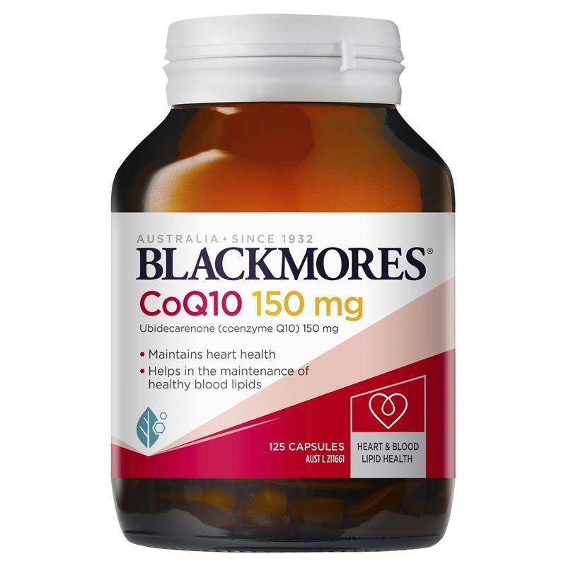 Viên uống bổ tim mạch Blackmores CoQ10 150mg 125 Capsules Exclusive Size