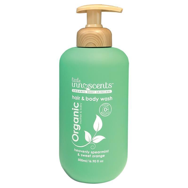 Sữa tắm gội toàn thân và tóc Little Innoscents hương bạc hà và cam 500ml