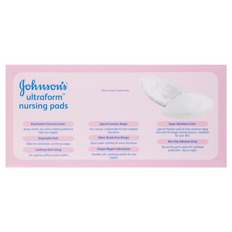 Tấm lót cho con bú Johnson's Ultraform Nursing Pads 24 Pack