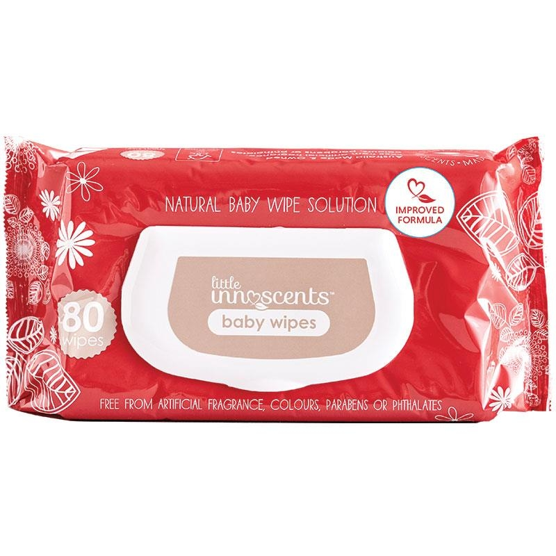Khăn ướt Little Innoscents Unscented Natural Wipes 80 Pack