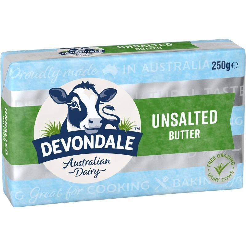 Bơ không muối - Devondale Unsalted Butter 250g