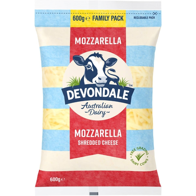 Phô mai Mozzarella vụn Devondale 600g