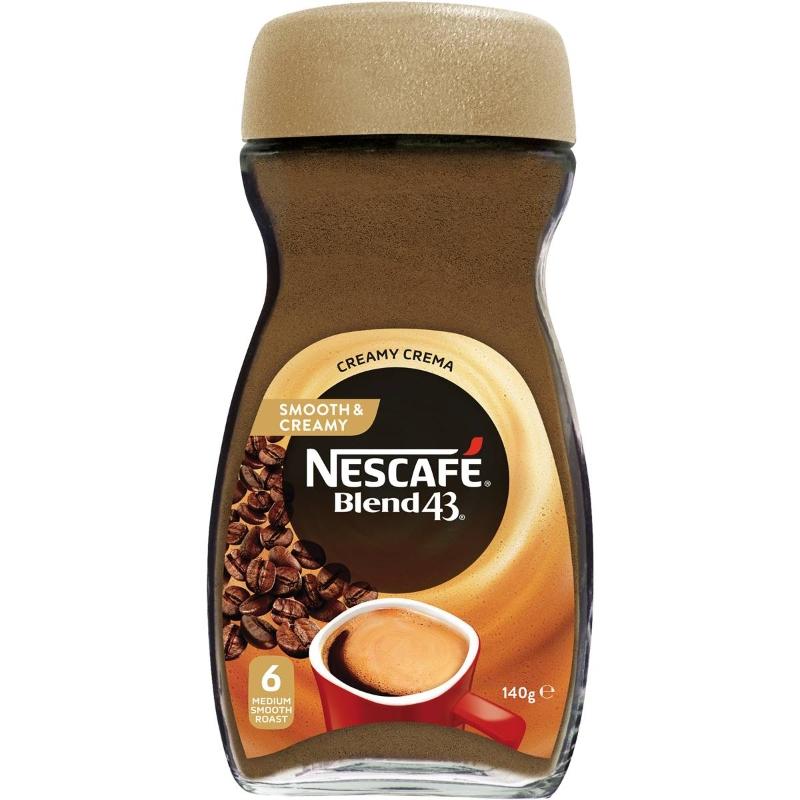 Nescafe Blend 43Nescafe Blend 43 Cà phê hòa tan mịn & kem 140g