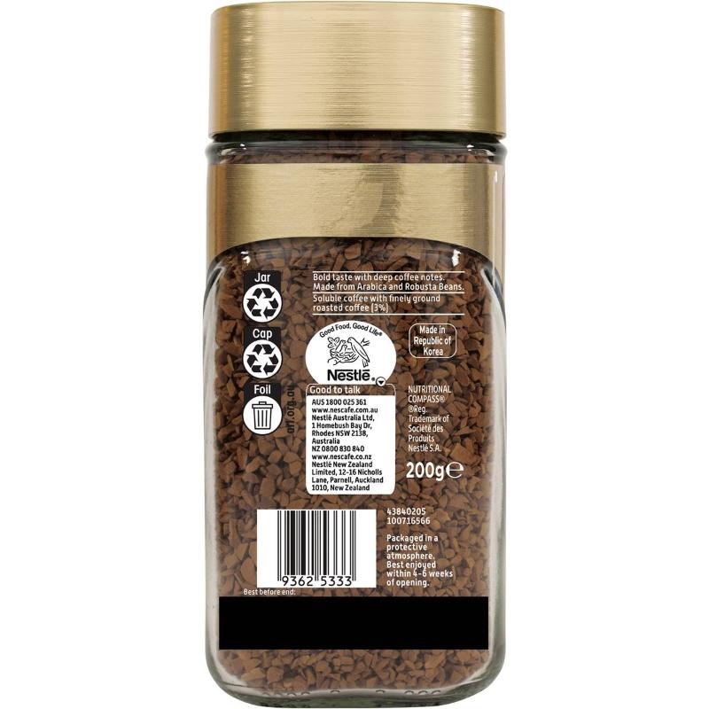 Cà phê hòa tan Nescafe Gold đậm đặc 200g