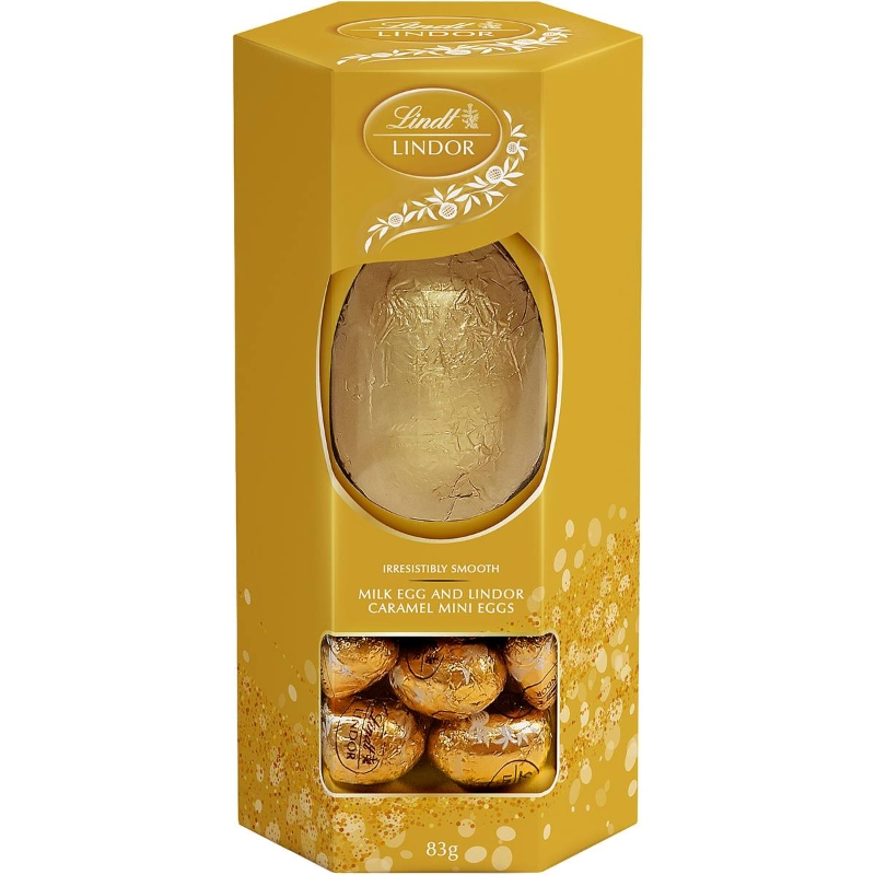 Lindt Lindor Caramel Mini Eggs & Milk Egg 83g