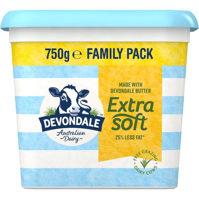 Bơ trộn siêu mềm - Devondale Extra Soft Butter Blend 750g