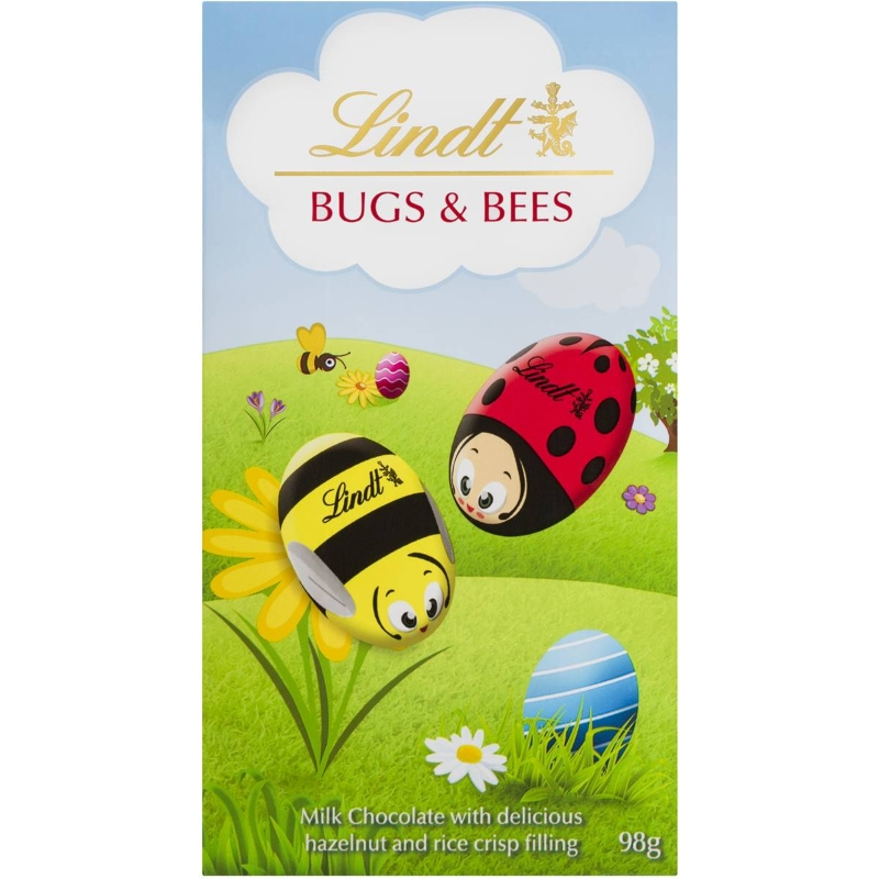 Lindt Milk Chocolate Bugs & Bees Pouch 98g