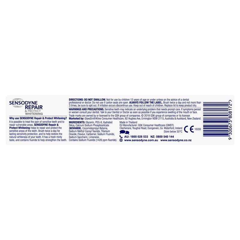 Kem đánh răng Sensodyne Sensitive Teeth Pain Repair & Protect Whitening Toothpaste 100g