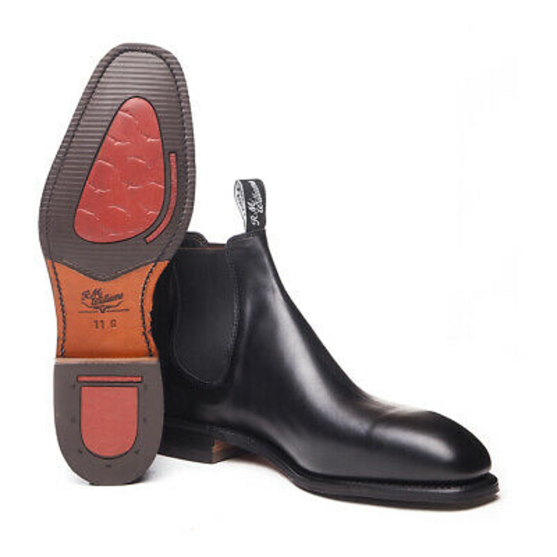 Giày boot Dynamic Flex BLACK RM Williams Craftsman Boots AUSTRALIAN MADE NEW - G & H Fit