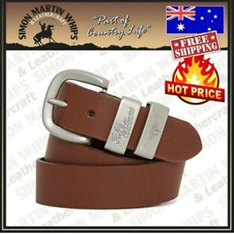 Túi trống RM Williams Leather Work Belt Dark Tan 1 1/2in - RRP 119.99 AUSTRALIAN MADE