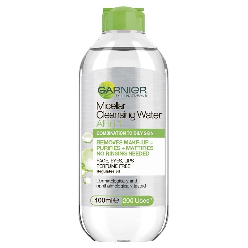 Tẩy trang Garnier Micellar All In One Oily to Combination Cleansing Water 400ml