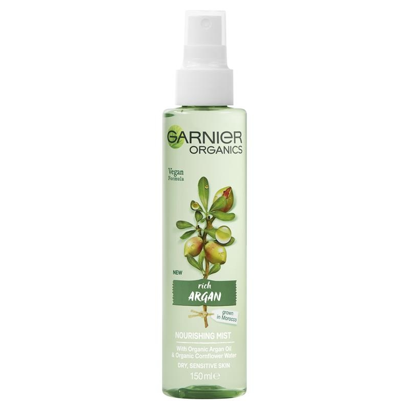 Xịt khoáng Garnier Organics Argan Nourishing Mist 150ml