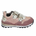 Giày da lộn bé gái - BR253 ENRICO COVERI Shoes Girls Pink Suede Textile Sneakers No Casual Casual Fl