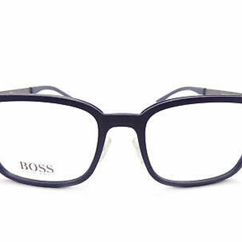 Kính cận HUGO BOSS +0.25 to +3.50 Reading Glasses Matte Blue/ Gunmetal 54mm 0725 KDN